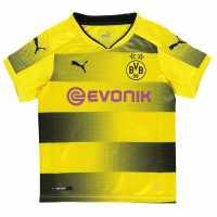 Puma Домакинска Футболна Фланелка Dortmund Home Shirt 2017 2018 Junior Yellow/Black Футболни фланелки на Борусия Дортмунд