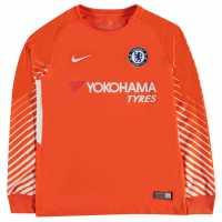 Nike Chelsea Home Goalkeeper Shirt 2017 2018 Junior Orange/White Футболни тениски на Челси