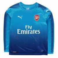 Puma Arsenal Long Sleeve Away Shirt 2017 2018 Junior Blue/Navy Футболни тениски на Арсенал
