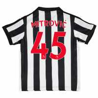 Puma Newcastle United Mitrovic Football Shirt 2017 2018 Junior Black/White Футболни тениски на Нюкасъл Юнайтед