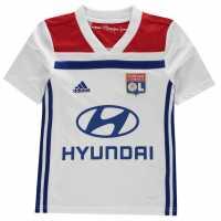Adidas Lyonnais Jersey Junior Boys White/Red Детски тениски и фланелки