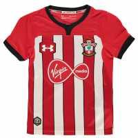 Under Armour Домакинска Футболна Фланелка Southampton Home Shirt 2018 2019 Junior Red/White Футболни фланелки на Саутхемптън