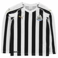 Puma Риза С Дълъг Ръкав Newcastle United Home Long Sleeve Shirt 2018 2019 Junior Black/White Футболна разпродажба