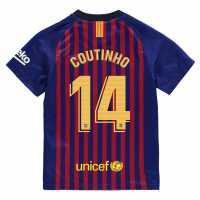 Team Домакинска Футболна Фланелка Barcelona Luis Suarez Home Shirt 2018 2019 Junior Royal Blue
