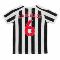 Puma Домакинска Футболна Фланелка Newcastle United Jamaal Lascelles Home Shirt 2018 2019 Junior Black/White