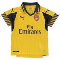 Puma Arsenal Away Shirt 2016 2017 Junior Spectra Yellow Футболни тениски на Арсенал