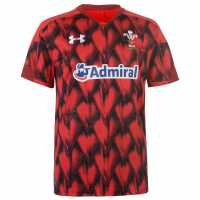 Under Armour Wales Sevens Shirt 2017 2018 Red Дрехи за ръгби