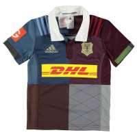 Adidas Harlequins Home Jersey 2016 Junior Boys Brown/Grey Фланелки на ръгби съюза