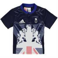 Adidas Team Gb Rugby Away Shirt Junior Navy Дрехи за ръгби