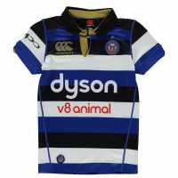 Canterbury Bath Home Pro Replica Rugby Jersey Junior Blue Фланелки на ръгби съюза