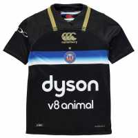 Canterbury Bath Rugby Third Pro Jersey 2017 2018 Junior Black Фланелки на ръгби съюза