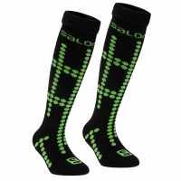 Salomon Детски Ски Чорапи Team Ski Socks Juniors Black/Green Детски чорапи