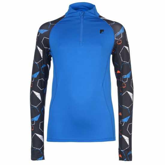 Nevica Vail Zip Top Juniors Blue AOP Детски основен слой дрехи