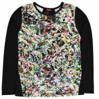 Spyder Lively Shirt Junior Boys White/Black Детски основен слой дрехи