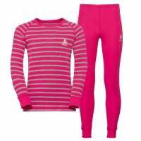 Odlo Warm Set Jn91 Pink Детски основен слой дрехи