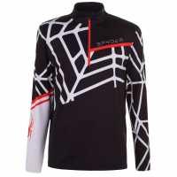 Spyder Мъжко Горнище С Цип Vital Zip Top Mens Black/White Мъжки ски якета