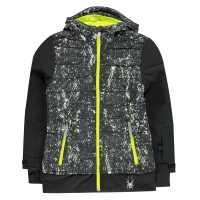 Spyder Ски Яке Момичета Moxie Ski Jacket Junior Girls Black Детски якета и палта