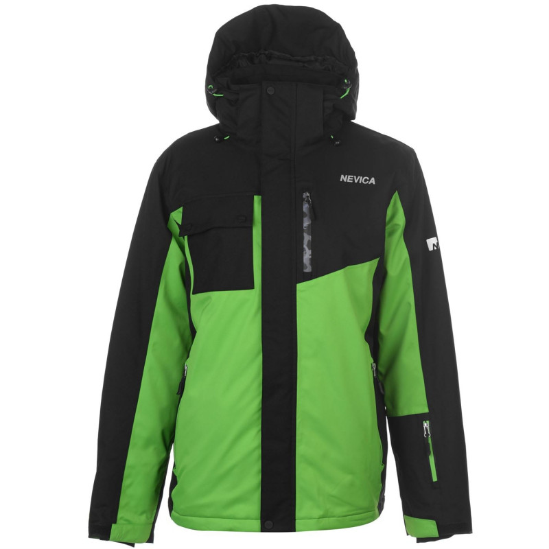 2ecc2a785f6 Nevica Мъжко Яке Brixen Snowboarding Jacket Mens Black/Green Мъжки якета и  палта
