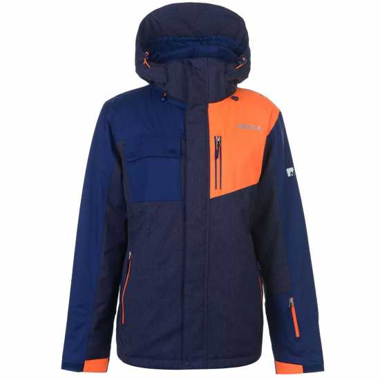 Nevica Мъжко Яке Brixen Snowboarding Jacket Mens Denim/Orange Мъжки якета и палта