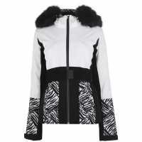 Nevica Дамско Яке За Ски Banff Ski Jacket Ladies White/Black Дамски якета и палта