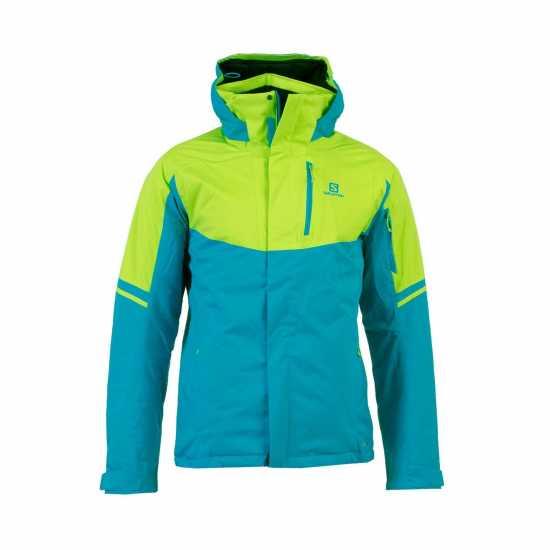 44d900937fc Salomon Мъжко Ски Яке Rise Ski Jacket Mens Blue/Green Мъжки якета и палта