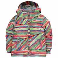 Spyder Яке Момичета Bitsy Duffle Jacket Infant Girls Multi Splatter Детски якета и палта