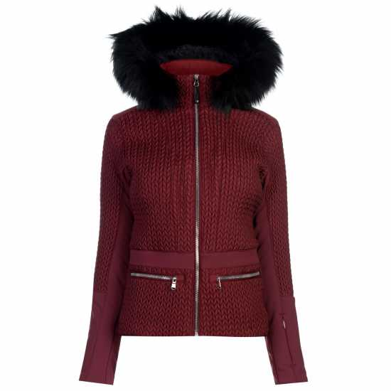 Nevica Дамско Яке За Ски Beverley Ski Jacket Ladies Burgundy Дамски якета и палта