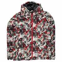 Spyder Яке Момчета Dolomite Hoody Down Jacket Junior Boys White Mini Camo Детски якета и палта