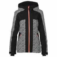 Oneill Дамско Яке Allure Jacket Ladies White AOP/Black Дамски якета и палта