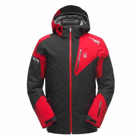 b9cc24387c2 Spyder Мъжко Яке Leader Jacket Mens Black/Red Мъжки якета и палта