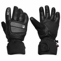 Nevica Banff Ski Gloves Black Leather Ръкавици шапки и шалове