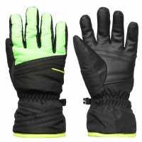 Reusch Alan Junior Ski Gloves Black/Green Ръкавици шапки и шалове