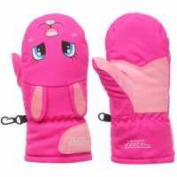No Fear Animal Mitt Infants Pink Ръкавици шапки и шалове