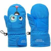No Fear Animal Mitt Infants Blue Ръкавици шапки и шалове