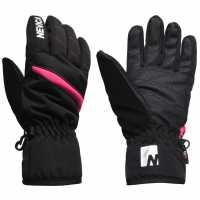 Sale Nevica Meribel Ski Gloves Juniors Black/Pink Детски ски ръкавици