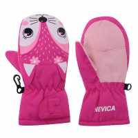Nevica Animal Mitt Infants Pink Детски ски ръкавици