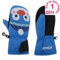 Nevica Animal Mitt Infants Blue Детски ски ръкавици