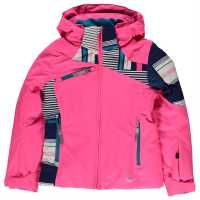 Spyder Ски Яке Момичета Project Ski Jacket Junior Girls Pink Детски якета и палта