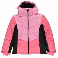 Nevica Детско Пухено Яке Bubble Jacket Junior Pink/Black Детски якета и палта