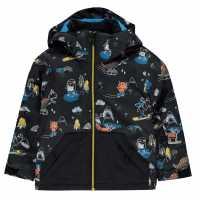 Quiksilver Яке Малки Момчета Little Mission Snow Jacket Infant Boys Black Детски якета и палта