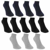 Donnay Trainer Socks 12 Pack Junior Dark Asst Детски чорапи