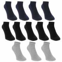 Donnay Trainer Socks 12 Pack Junior Dark Asst Детски чорапи