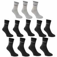 Donnay Мъжки Чорапи Доглезена 12Бр. Crew Socks 12 Pack Junior Dark Asst Детски чорапи