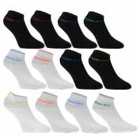 Donnay Ниски Чорапи Quarter Socks 12 Pack Junior Bright Asst Дамски чорапи