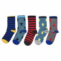 Crafted Essentials 5 Pack Star Socks Infant Boys Star Brights Детски чорапи