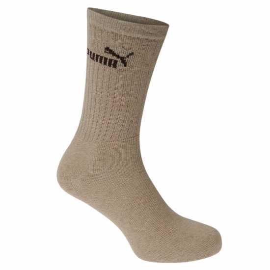 Puma Мъжки Чорапи 3 Pack Crew Socks Mens Chestnut Мъжки чорапи