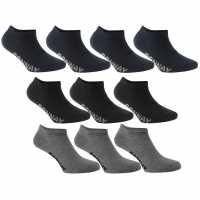 Donnay Мъжки Чорапи За Маратонки 10 Бр. 10 Pack Trainer Socks Dark Asst Мъжки чорапи