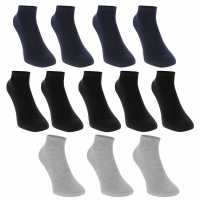 Donnay Trainer Socks 12 Pack Childrens Dark Asst Детски чорапи