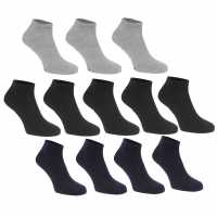 Donnay Trainer Liner Socks 12 Pack Mens Dark Asst Мъжки чорапи
