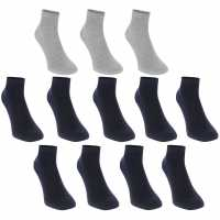 Donnay Trainer Socks 12 Pack Mens Dark Asst Мъжки чорапи